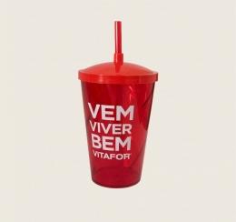 Copo Vitafor Vermelho