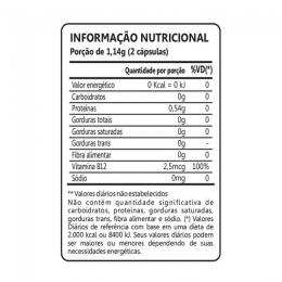 Spirulina 450mg (60 caps) - TABELA NUTRICIONAL